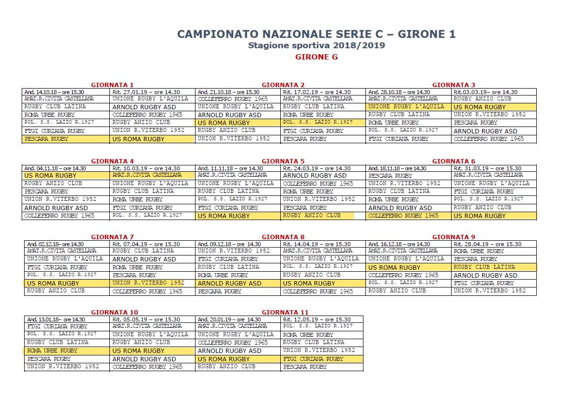 Calendario As Roma 2019 20.Serie C1 Ufficializzato Il Calendario Della Stagione 2018